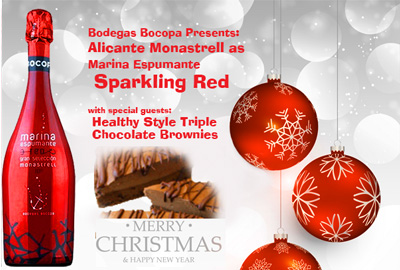 Sparkling Monastrell with Brownies