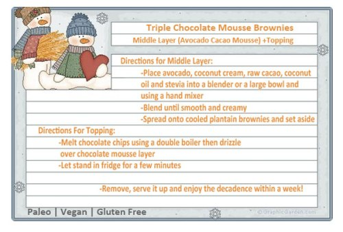 Recipe Card Brownie Directions for Middle and Topping Layers